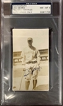 "Lou Gehrig Near-Mint Signed 2.25"" x 4"" Yankees Photograph (PSA/DNA NM 8 & JSA!)"