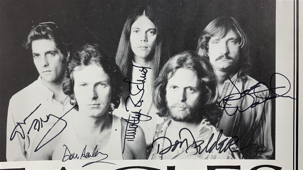 Eagles Rare Group Signed 20 x 27 Original 1979 The Long Run Tour Concert Poster w/ All Five Members! (Beckett/BAS Guaranteed)