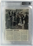 "The Rolling Stones Vintage Signed 7"" x 9"" Magazine Photograph (Beckett/BAS Encapsulated)"