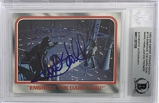 Mark Hamill & David Prowse Dual Signed 1980 Topps Star Wars Trading Card #114 (Beckett/BAS Encapsulated)