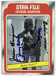 Boba Fett: Jeremy Bulloch & Jason Wingreen Dual Signed & Inscribed 1980 Topps Star Wars Trading Card #11 (Beckett/BAS Guaranteed)