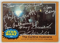 The Cantina Band Signed 1977 Star Wars Trading Card with Creators & Band Members! (Beckett/BAS Guaranteed)(Steve Grad Collection)
