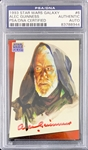Sir Alec Guinness Signed 1993 Star Wars Galaxy #6 Trading Card (PSA/DNA Encapsulated)(Steve Grad Collection)