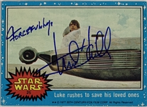 "Mark Hamill Signed 1977 Topps Star Wars Trading Card #25 with ""Forcefully"" Inscription (Beckett/BAS Guaranteed)(Steve Grad Collection)"