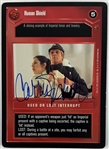 Carrie Fisher Signed 1997 Star Wars CCG Game Card - Human Shield (Beckett/BAS Guaranteed)(Steve Grad Collection)