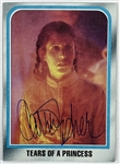 Carrie Fisher Signed 1980 Topps Star Wars Trading Card #205 (Beckett/BAS Guaranteed)(Steve Grad Collection)