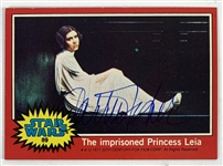 Carrie Fisher Signed 1977 Topps Star Wars Trading Card #89 (Beckett/BAS Guaranteed)(Steve Grad Collection)