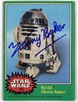 R2-D2: Lot of Four (4) Kenny Baker Signed Star Wars Trading Cards (Beckett/BAS Guaranteed)(Steve Grad Collection)