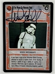 Mark Hamill Signed 1996 Star Wars CCG Game Card (Beckett/BAS Guaranteed)(Steve Grad Collection)