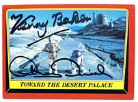 Droids: Kenny Baker & Anthony Daniels Dual Signed 1983 Star Wars ROTJ Trading Card #11 (Beckett/BAS Guaranteed)(Steve Grad Collection)