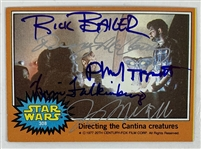 The Cantina Crew Signed 1977 Topps Trading Card with Tippett, Baker, etc. (Beckett/BAS Guaranteed)(Steve Grad Collection)