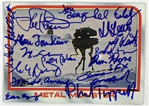 Probe Droid Crew & Designers Multi Signed 1980 Topps Star Wars ESB Trading Card #30 w/Tippett, Blau, Fulmer, etc. (Beckett/BAS Guaranteed)(Steve Grad Collection)