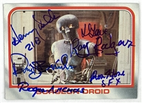 Medical Droid Cast Signed Topps ESB Trading Card #28 with Delk, Lowe, etc. (Beckett/BAS Guaranteed)(Steve Grad Collection)