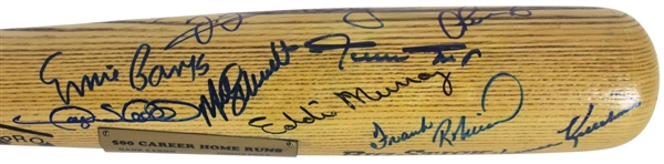 500 Home Run Club Multi-Signed Baseball Bat w/ Incredible 20 Signatures! (Beckett/BAS)