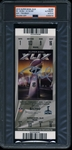 Tom Brady Signed Super Bowl XLIX Ticket Stub (PSA/DNA Graded NM-MT 8)