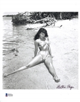 "Bettie Page Near-Mint Signed 8"" x 10"" Black & White Photograph (Beckett/BAS)"