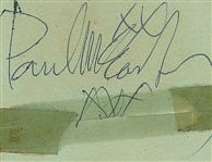 "Paul McCartney Vintage Signed 2.5"" x 3"" c.1960s Album Page (Beckett/BAS Guaranteed)"