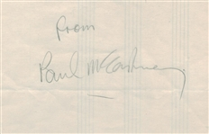 "The Beatles: Paul McCartney Signed 5"" x 8"" Album Page (Beckett/BAS Guaranteed)"