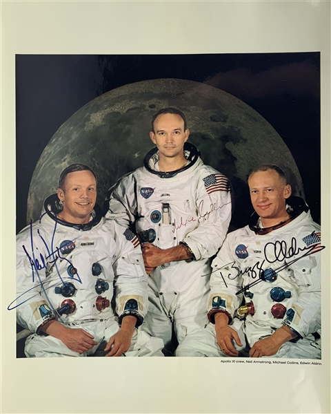 Apollo 11 Amazing Crew Signed Over-Sized 16 x 20 Color NASA Photograph w/ Armstrong, Aldrin & Collins (Beckett/BAS)
