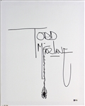 "Todd McFarlane Signed 16"" x 20"" Canvas w/ Spider Sketch (Beckett/BAS)"