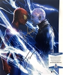 "The Amazing Spider-Man 2: Jaime Foxx & Andrew Garfield Dual Signed 11"" x 14"" Color Photo (Beckett/BAS COA)"