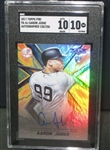 Aaron Judge Signed 2017 Topps Fire /250 Rookie Card (SGC 10 10)
