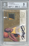 Kevin Durant Signed 2007-08 Fleer Hot Prospects /399 Rookie Card (BGS 9 10)