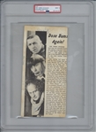 "The Three Stooges Vintage c. 1941 Group Signed 4"" x 9"" Magazine Photograph - PSA MINT 9 - The Highest Graded Example!"
