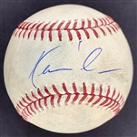 Kevin Costner Single Signed OML Game Used Baseball (PSA/DNA)