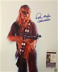 "Star Wars: Peter Mayhew Signed 16"" x 20"" Color Photo as ""Chewbacca"" (JSA)"
