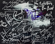 "The Original ILM Extensive Crew Signed 8"" x 10"" Death Star Photo with 42 Signatures (Beckett/BAS Guaranteed)(Steve Grad Collection)"