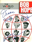"The World of Bob Hope Multi-Signed 9"" x 12"" Program w/ 3 Signatures! (Becket/BAS)"