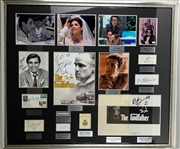 Godfather Ultimate Multi-Signed Display Featuring Brando, Puzo, Pacino & Many More! (Beckett/BAS, JSA, PSA/DNA & SGC)
