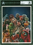 "Jim Henson Superb Signed 8"" x 10"" Color Photo with The Muppets - Autograph Graded GEM MINT 10! (Beckett/BAS Encapsulated)"