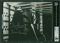 "Star Wars: Alec Guinness and David Prowse Dual Signed 8"" x 10"" B&W Photo from ""A New Hope"" (Beckett/BAS Encapsulated)"