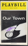 "Paul Newman Rare Signed ""Our Town"" Playbill (John Brennan Collection)(Beckett/BAS Guaranteed)"
