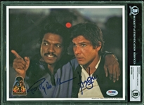 "Harrison Ford & Billy Dee Williams Dual Signed 8"" x 10"" Photo from ""Empire Strikes Back"" (Official Pix)(PSA/DNA)(Beckett/BAS Encapsulated)"