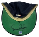 Derek Jeter Game Used & Signed 1993 New York Yankees Spring Training Baseball Cap - Possibly Jeters First Worn Official Yankees Cap! (Beckett/BAS & JT Sports/PSA/DNA)