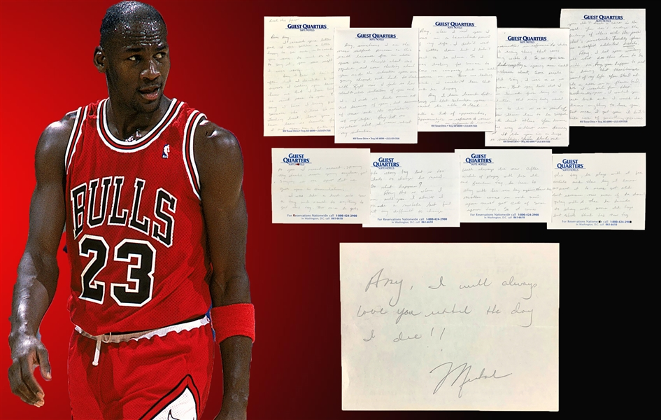Michael Jordan Extraordinary 20-Page Handwritten Letter with Incredibly Insightful and Shocking Content! (Beckett/BAS & JSA LOAs)