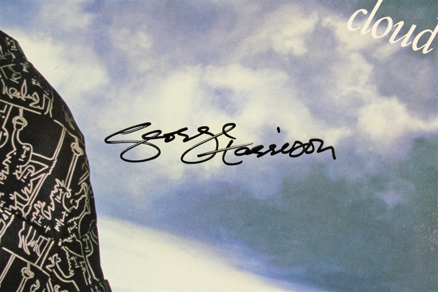 The Beatles: George Harrison Scarce Signed Cloud Nine Record Album (JSA)
