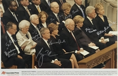 "Presidents & First Ladies Signed 11"" x 14"" AP Photograph w/ Both Bushes, Carters, Fords & Clintons! (Beckett/BAS)"