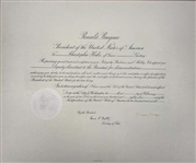 Ronald Reagan Rare Signed 1985 Presidential Appointment Document (JSA)
