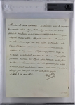 Napoleon Bonaparte Signed 1811 French Letter (Beckett/BAS Encapsulated)