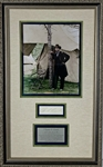 "President Ulysses S Grant Signed 3.5"" x 1.75"" Cut Framed Display (PSA/DNA)"