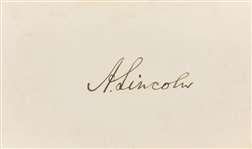 Abraham Lincoln Superb Signed Calling Card with Beckett (BAS) Graded GEM MINT 10 Autograph! (Beckett/BAS & JSA LOAs)