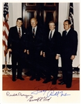 "Four Presidents Group Signed 8"" x 10"" Color Photograph w/ Reagan, Nixon, Ford & Carter! (PSA/DNA)"