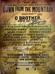 "Down From the Mountain: Music From O Brother Where Art Thou Multi-Signed 17"" x 23"" Poster w/ Emmylou Harris & Others (JSA)"