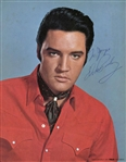 "Stunning Elvis Presley Signed 8"" x 10"" Full Color RCA Promotional Photograph - BAS/Beckett Graded MINT 9"