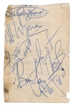 "The Rolling Stones Vintage Group Signed 2.5"" x 4"" Handbill w/ Jones, Jagger, Richards, Watts & Wyman! (Beckett/BAS)"