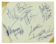 "The Rolling Stones Vintage Group Signed 5.5"" x 4"" Album Page w/ Jones, Richards, Watts, Jagger & Wyman! (Tracks & Beckett/BAS)"